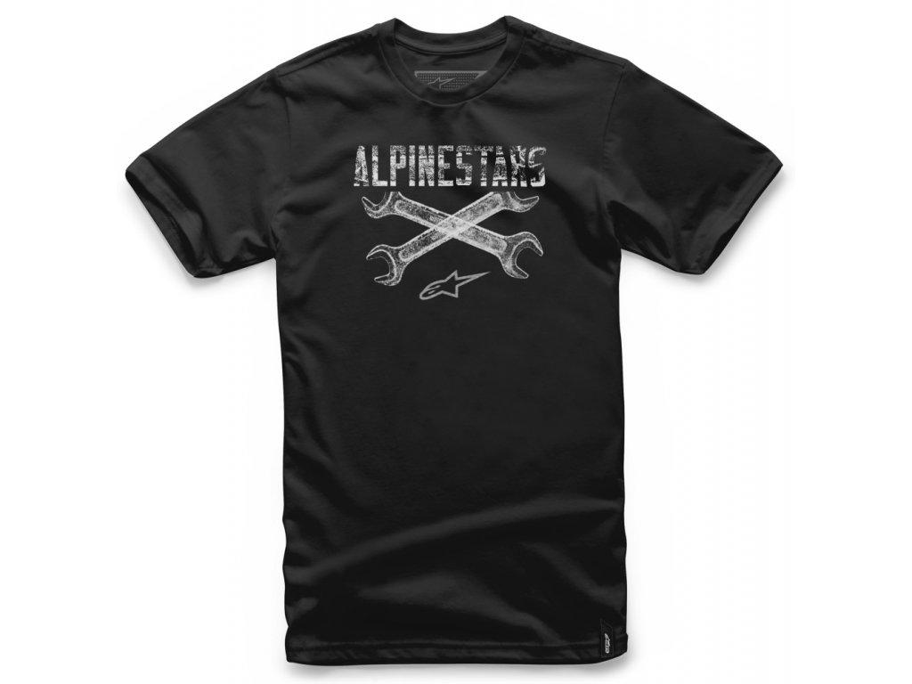 Pánské černé tričko RATCHET TEE Alpinestars krátké 1037-72062 10