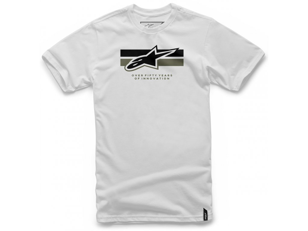 Pánské bílé tričko BLINK TEE Alpinestars krátké 1047-72038 20