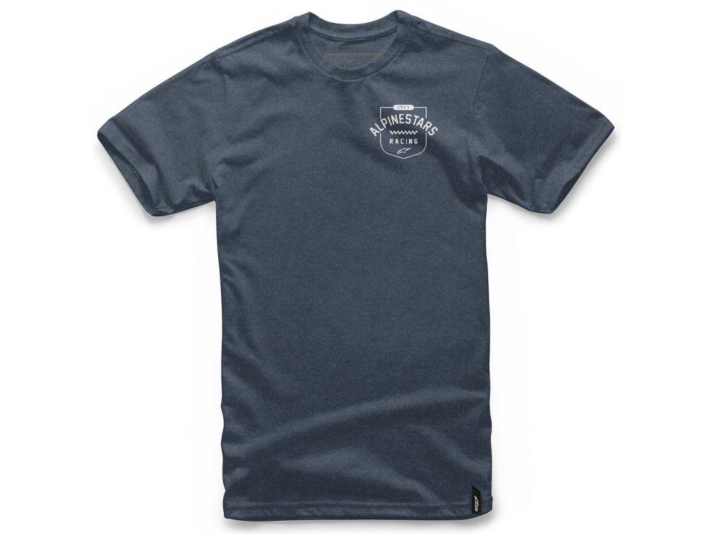 Pánské tmavě-modré tričko SHIELD TEE Alpinestars krátké 1047-72016 7000