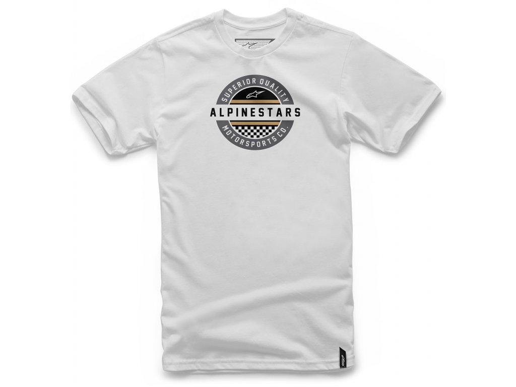 Pánské bílé tričko QUICK TEE Alpinestars krátké 1047-72020 20