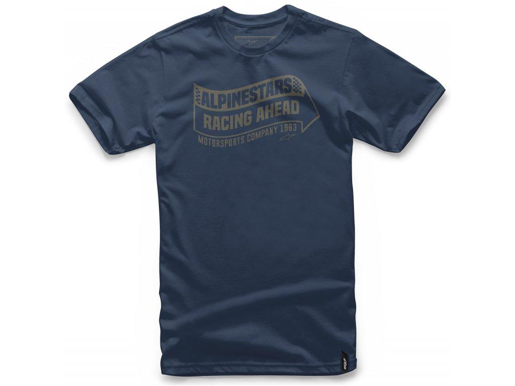 Pánské modré tričko SWERVE TEE Alpinestars krátké 1047-72032 70