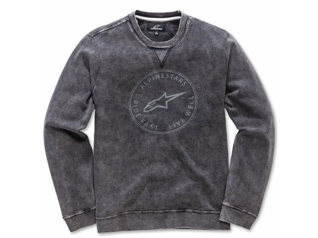 Pánská černá mikina MASSIMA FLEECE Alpinestars 1018-51102 10