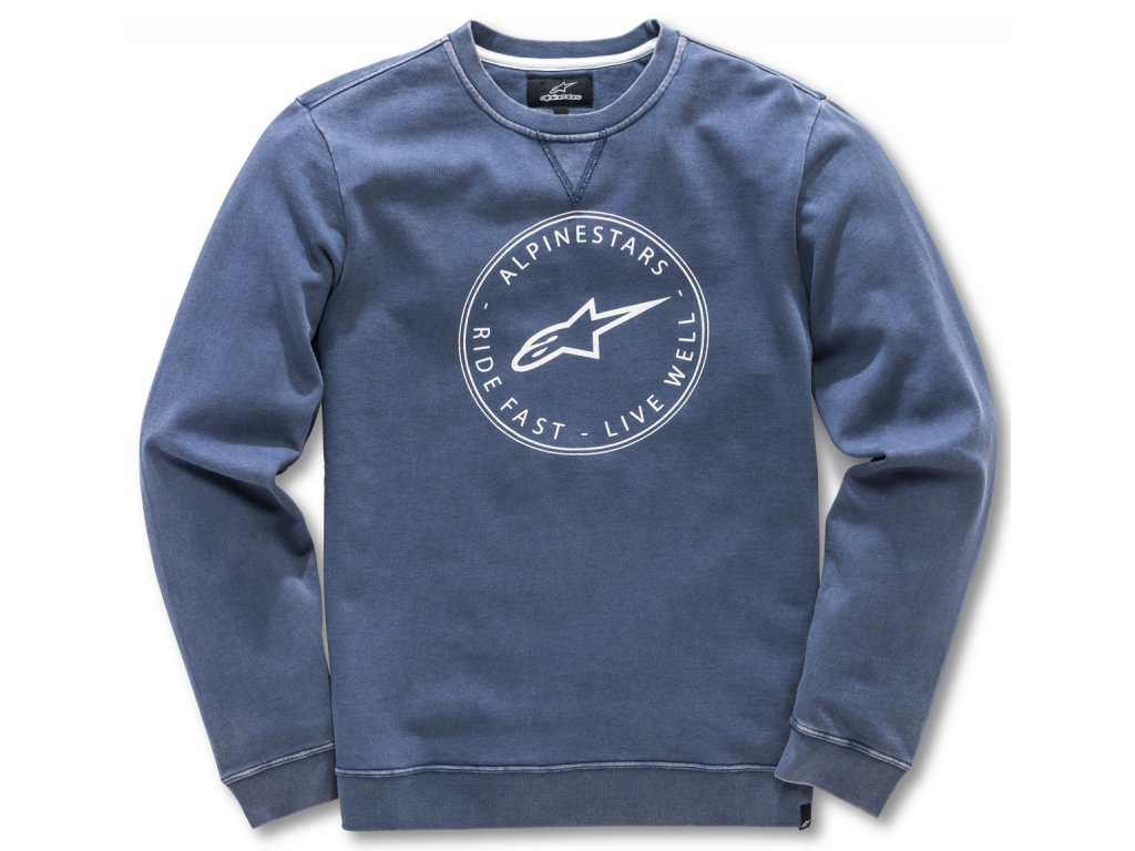 Pánská modrá mikina MASSIMA FLEECE Alpinestars 1018-51102 70