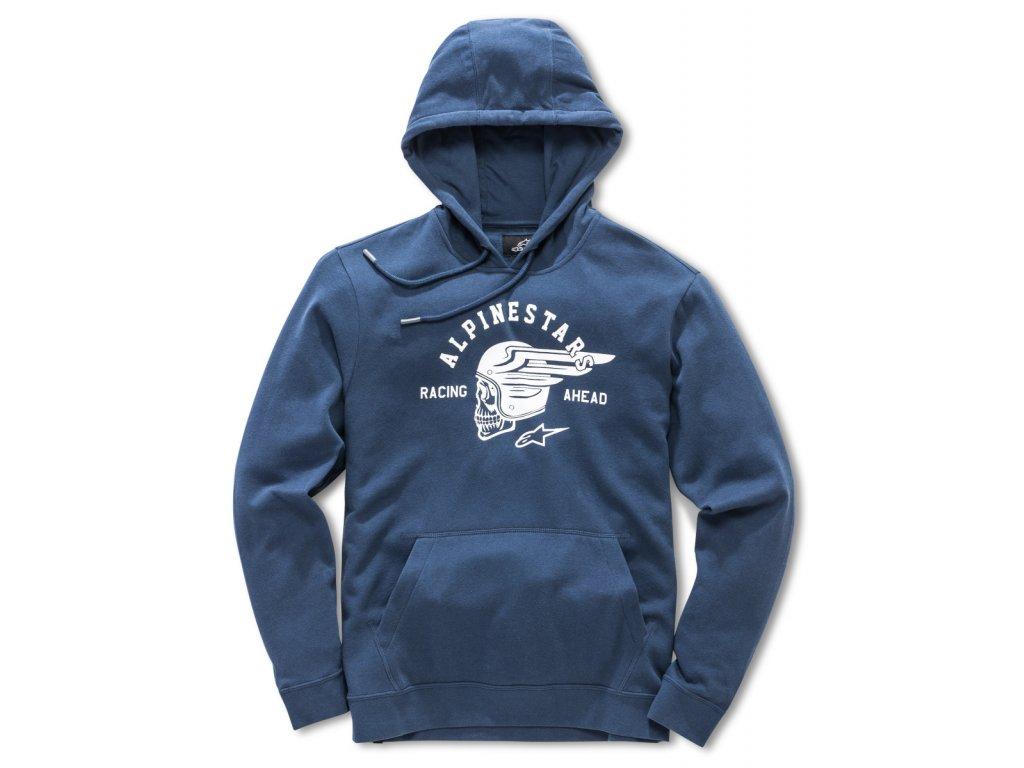 Pánská modrá mikina SKULLISION FLEECE Alpinestars 1018-51114 7020