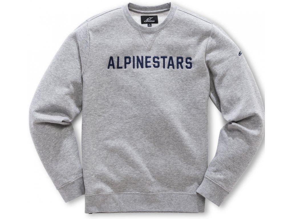 Pánská šedá mikina DISTANCE FLEECE Alpinestars 1018-51100 1026