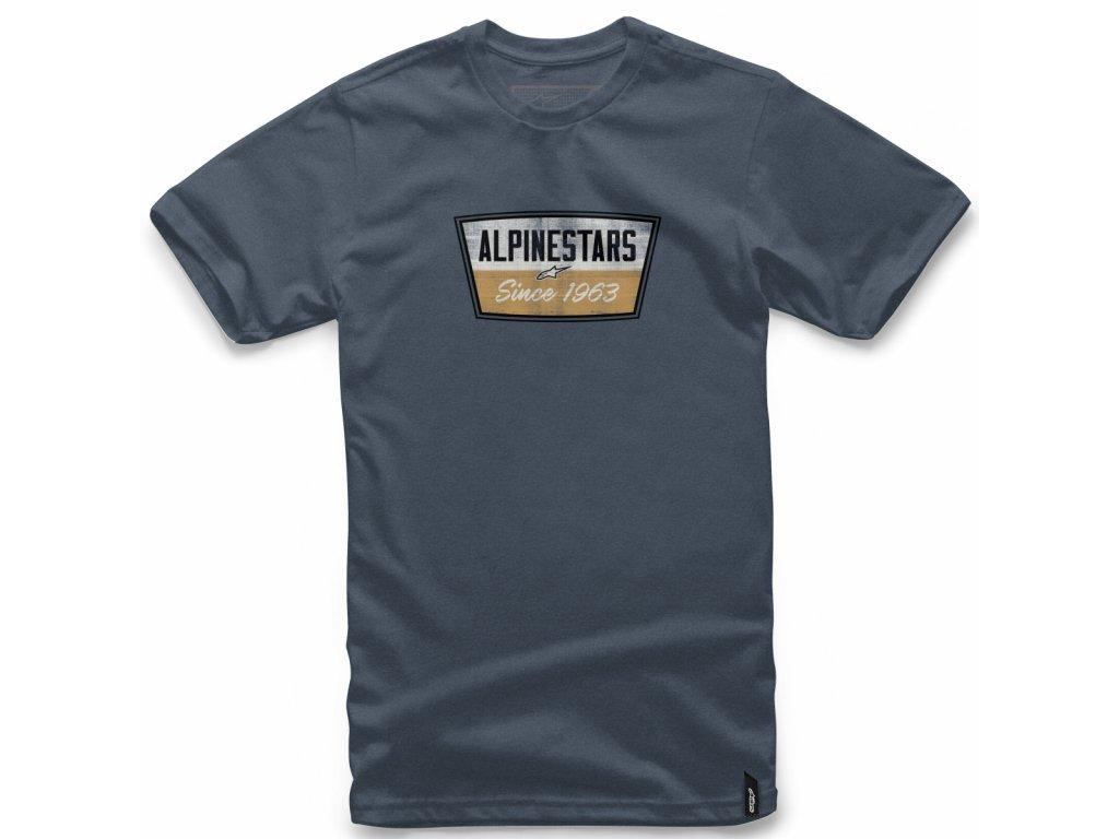Pánské modré tričko BATTERY TEE Alpinestars krátké 1018-72006 7000