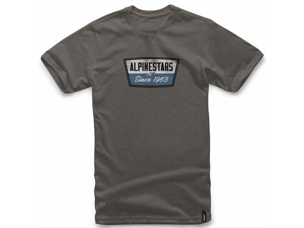 Pánské šedé tričko BATTERY TEE Alpinestars krátké 1018-72006 191