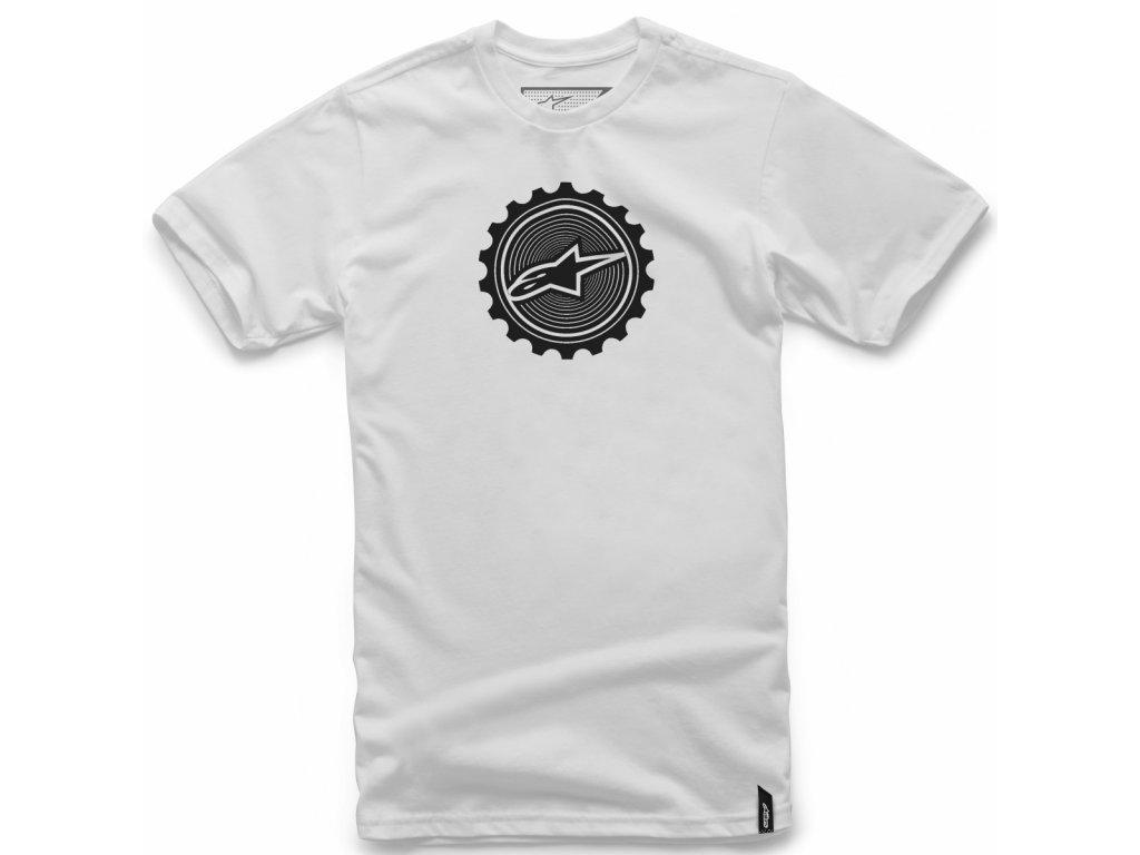 Pánské bílé tričko GEARED TEE Alpinestars krátké 1018-72014 20