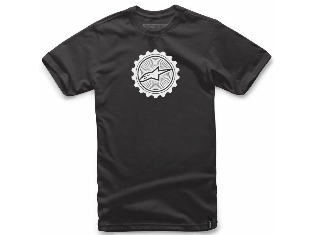 Pánské černé tričko GEARED TEE Alpinestars krátké 1018-72014 10