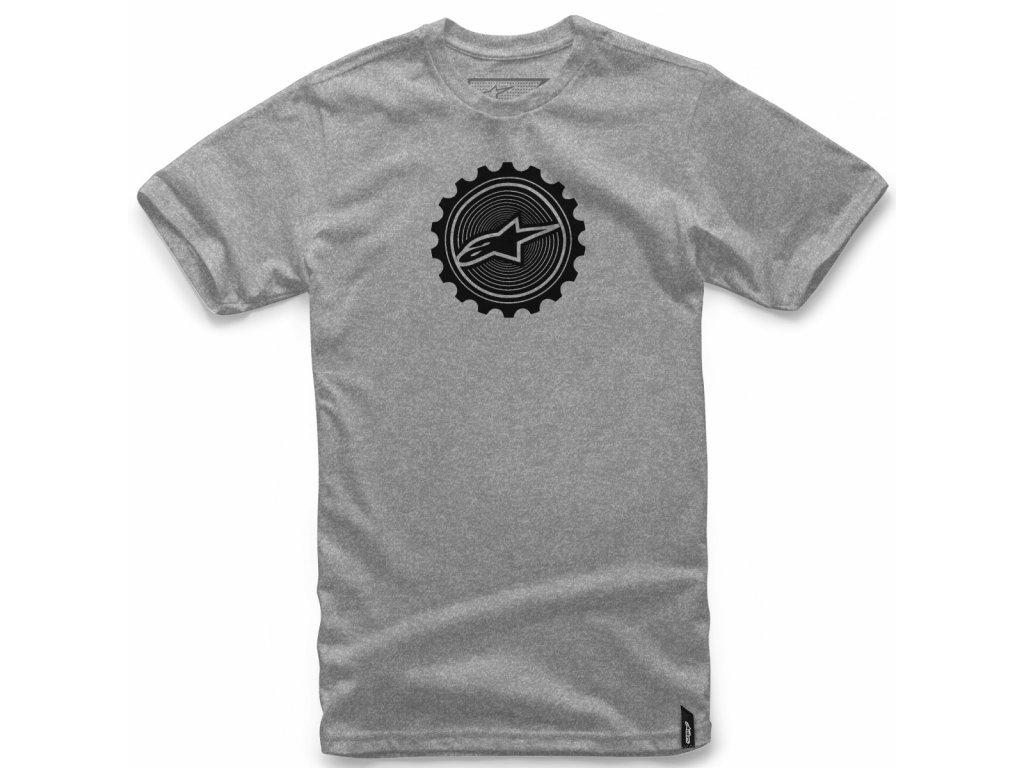 Pánské šedé tričko GEARED TEE Alpinestars krátké 1018-72014 1026