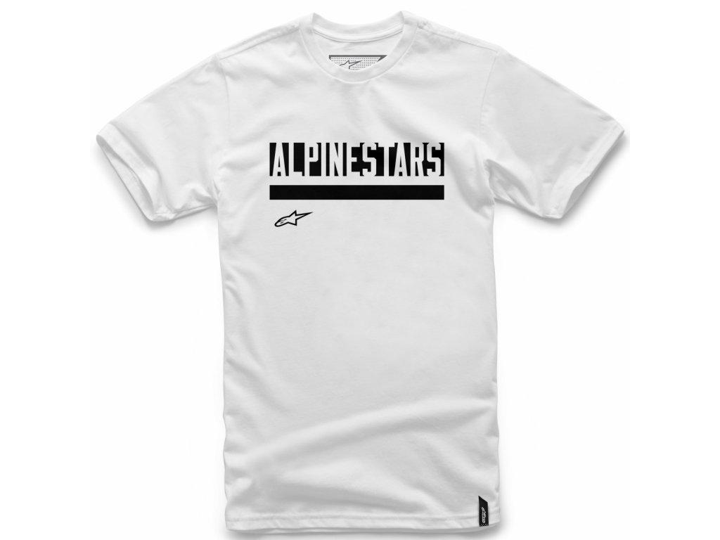 Pánské bílé tričko STATED TEE Alpinestars krátké 1018-72016 20