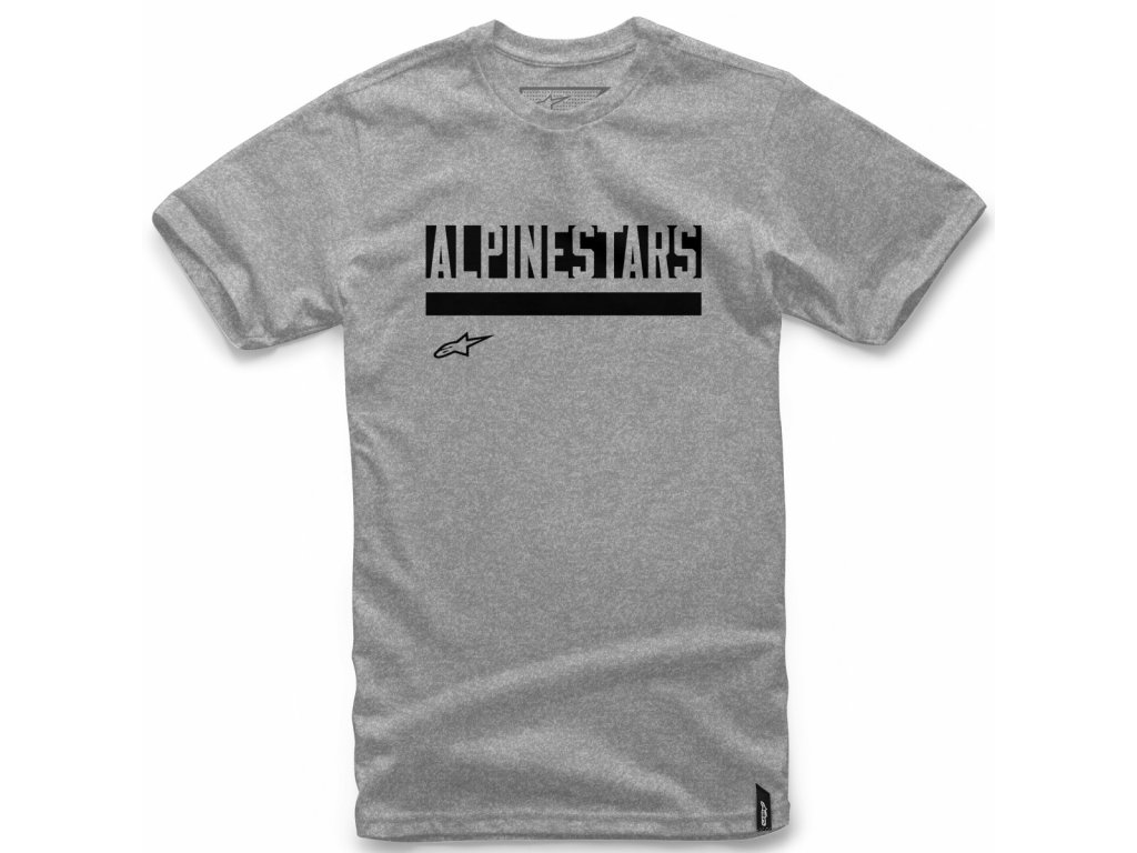 Pánské šedé tričko STATED TEE Alpinestars krátké 1018-72016 1026
