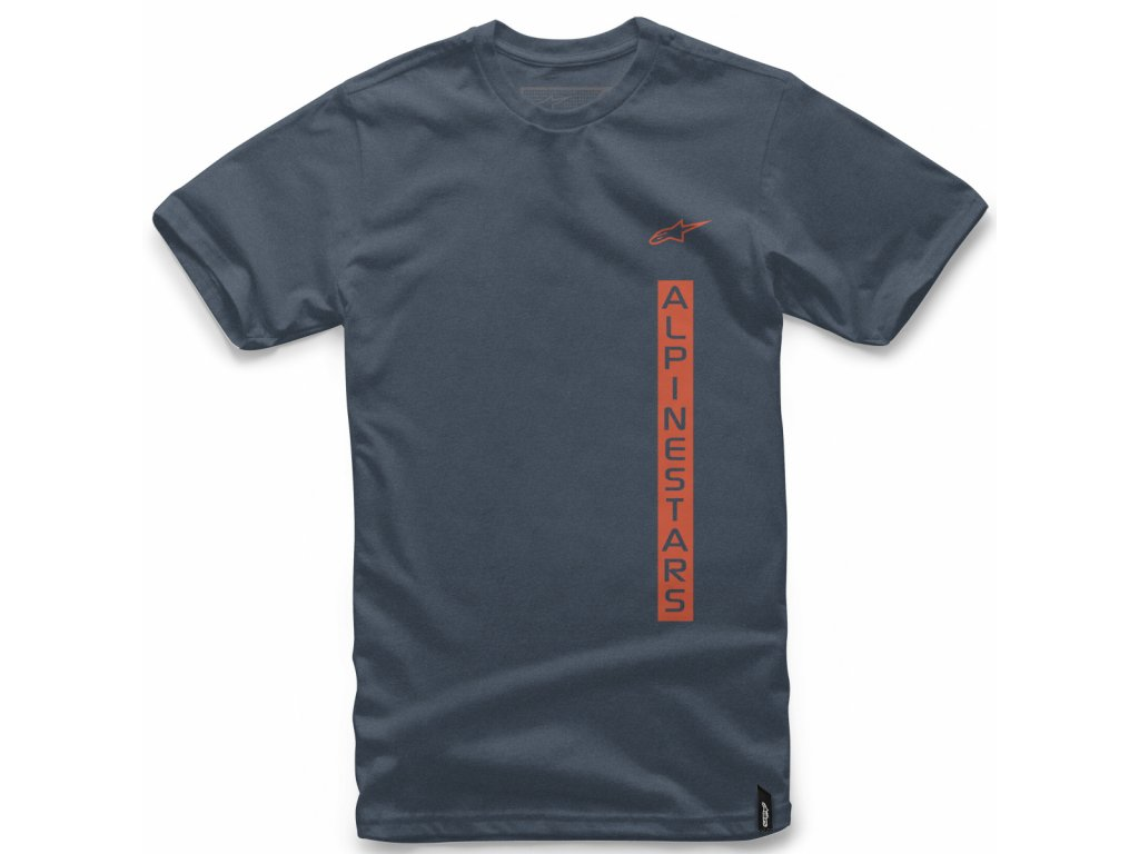 Pánské modré tričko VERT TEE Alpinestars krátké 1018-72026 7000