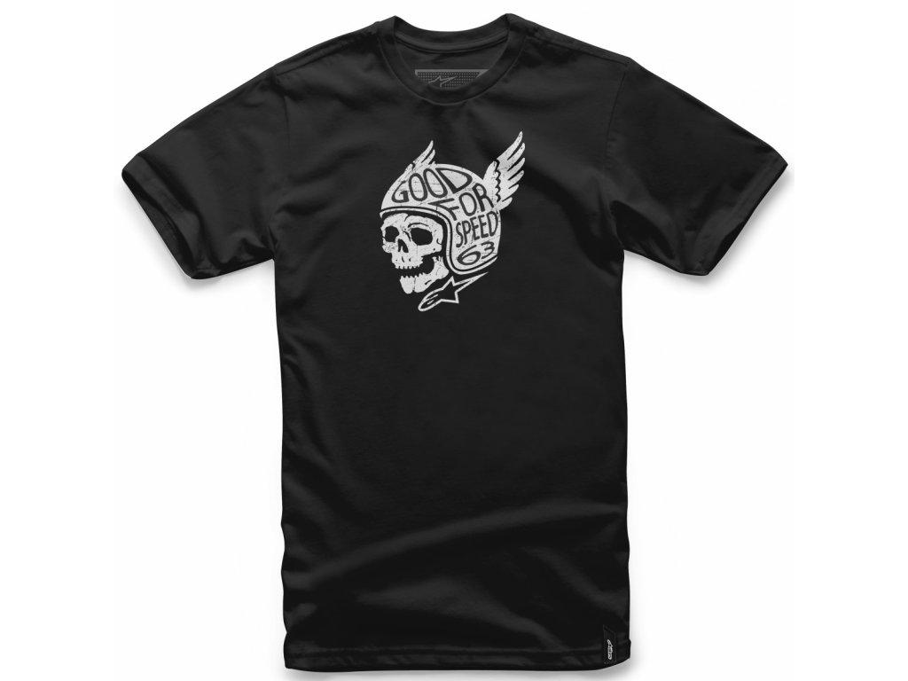 Pánské černé tričko DEMON TEE Alpinestars krátké 1018-72018 10