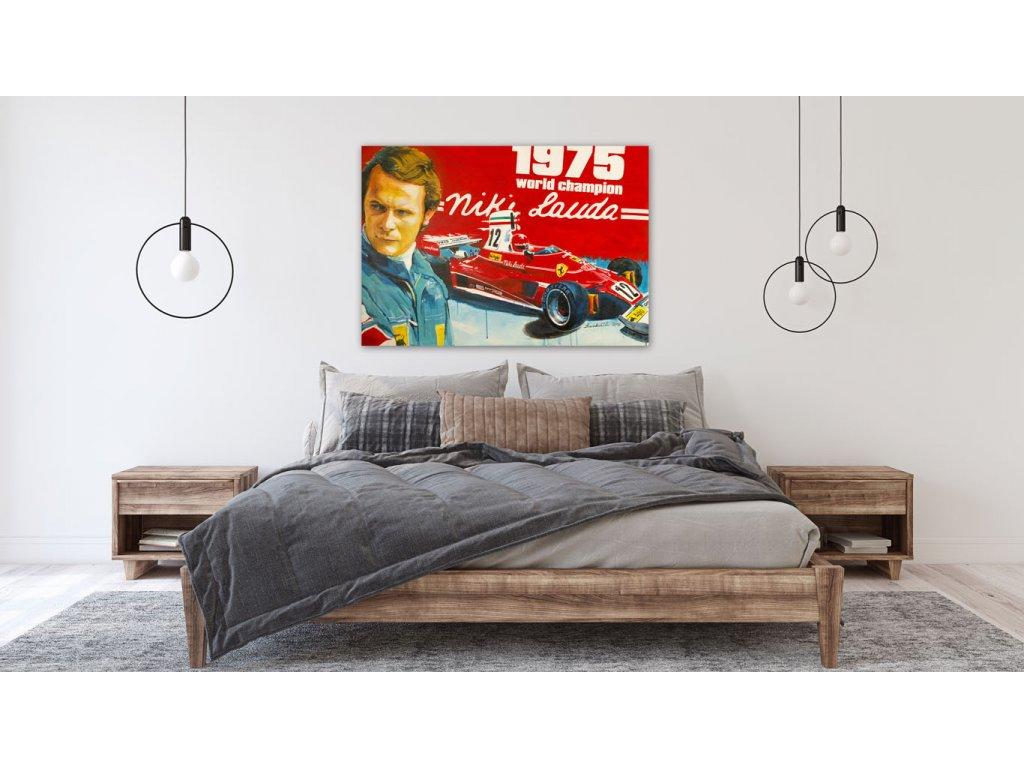 Hlinikovy obraz Niki Lauda F1 1975 1