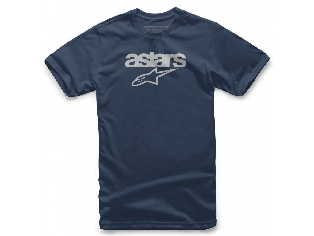 Pánské modré tričko HERITAGE BLAZE TEE Alpinestars krátké 1038-72002 70