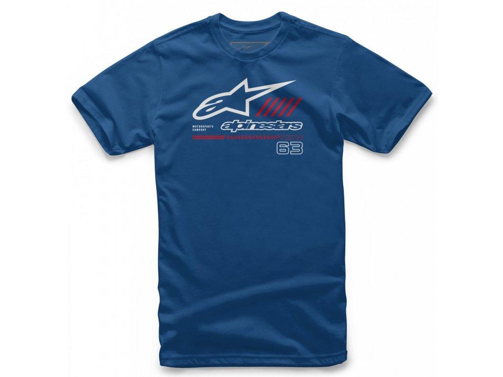 Pánské modré tričko STRAT TEE Alpinestars krátké 1038-72010 79