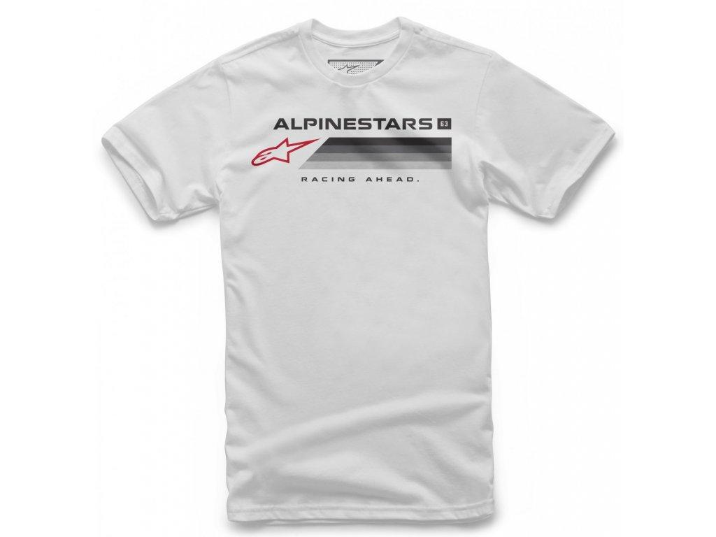 Pánské bílé tričko FORWARD TEE Alpinestars krátké 1038-72018 20