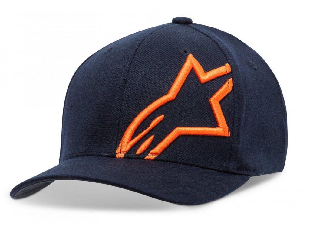 Pánská modro-oranžová kšiltovka CORP SHIFT 2 FLEXFIT Alpinestars 1032-81008 7032-M