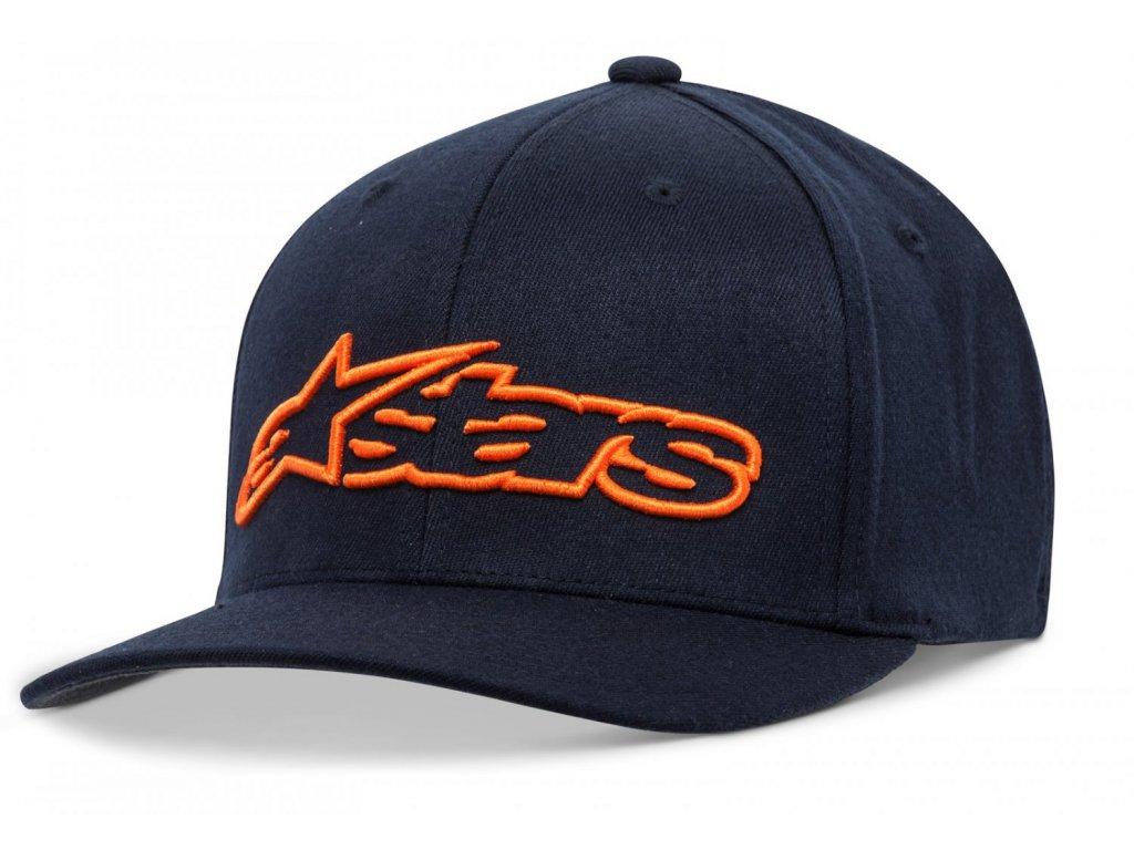 Pánská modro-oranžová kšiltovka BLAZE HAT Alpinestars 1039-81005 7032-M
