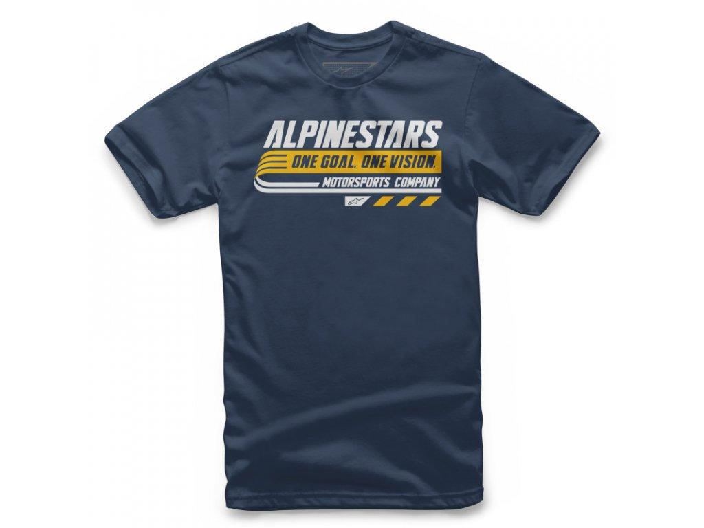 Dětské modré tričko BRAVO TEE Alpinestars krátké 3038-72006 70