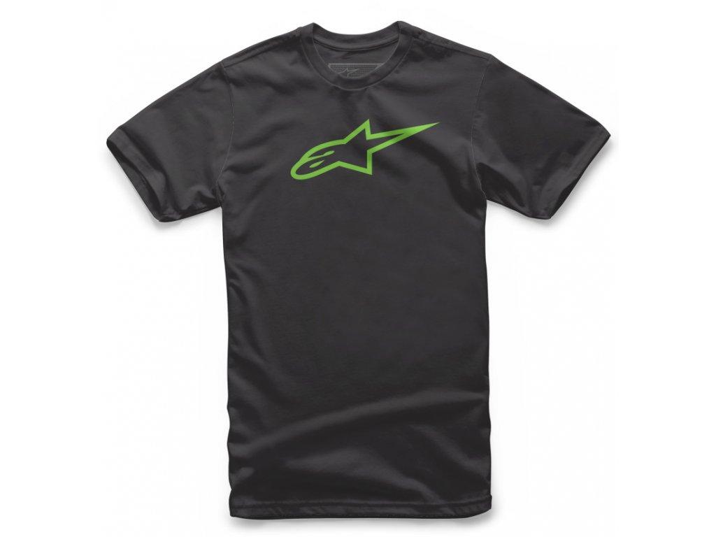 Dětské černo-zelené tričko AGELESS TEE Alpinestars krátké 3038-72002 1060