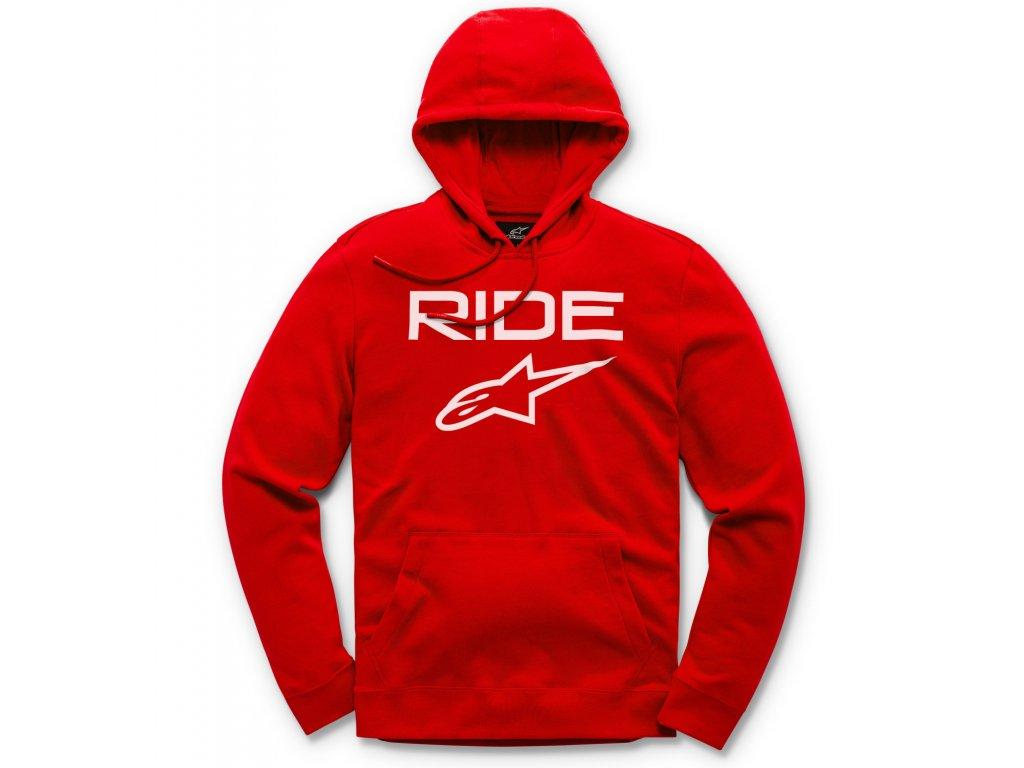 Pánská červená mikina RIDE 2.0 FLEECE Alpinestars 1119-51000 3020