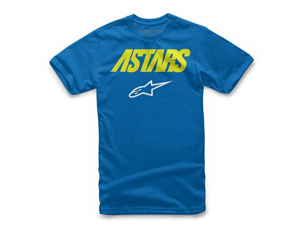 Dětské modré tričko ANGLE COMBO TEE Alpinestars krátké 3019-72000 79