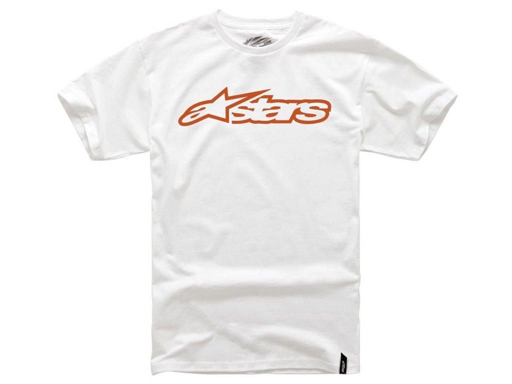 Dětské bílé tričko BLAZE TEE Alpinestars krátké 3038-72000 2040