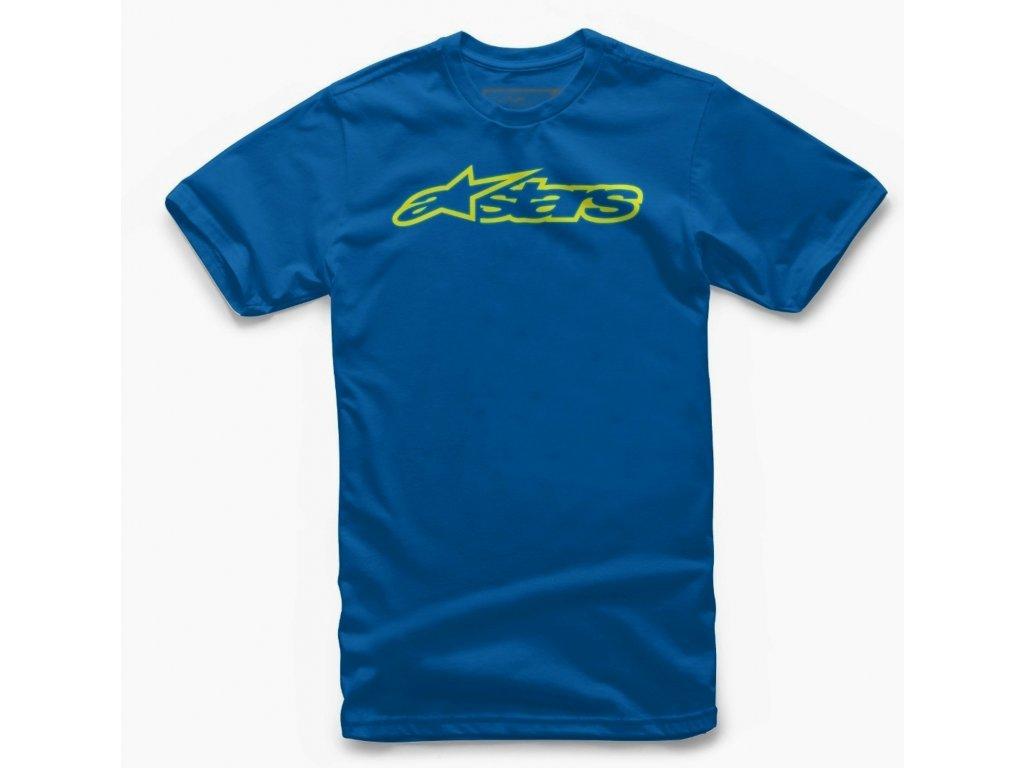 Dětské modré tričko BLAZE TEE Alpinestars krátké 3038-72000 7955