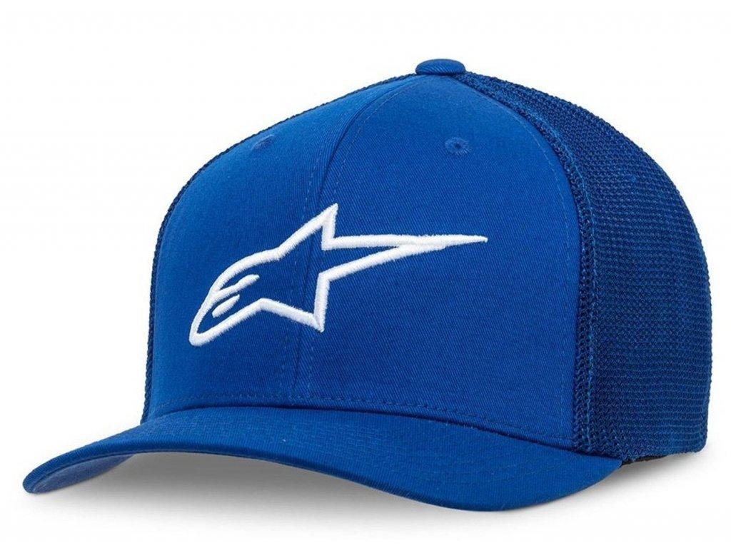 Pánská modrá kšiltovka AGELESS STRETCH MESH HAT Alpinestars 1038-81006 7920-M