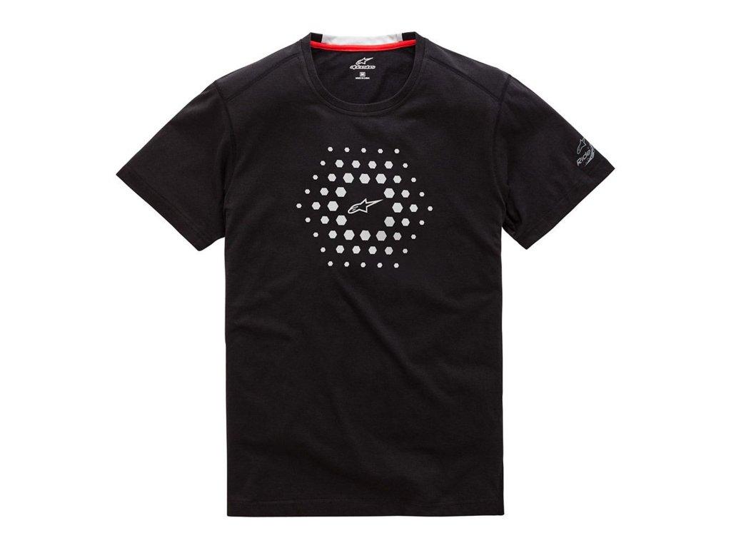 Pánské černé prémiové tričko BURST RIDE DRY TEE Alpinestars krátké 1019-73000 10