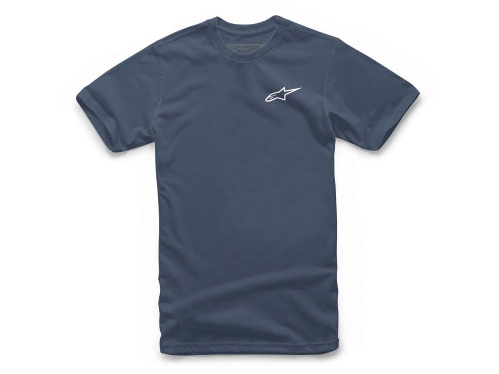 Pánské modré tričko NEU AGELESS Alpinestars krátké 1018-72012 7020