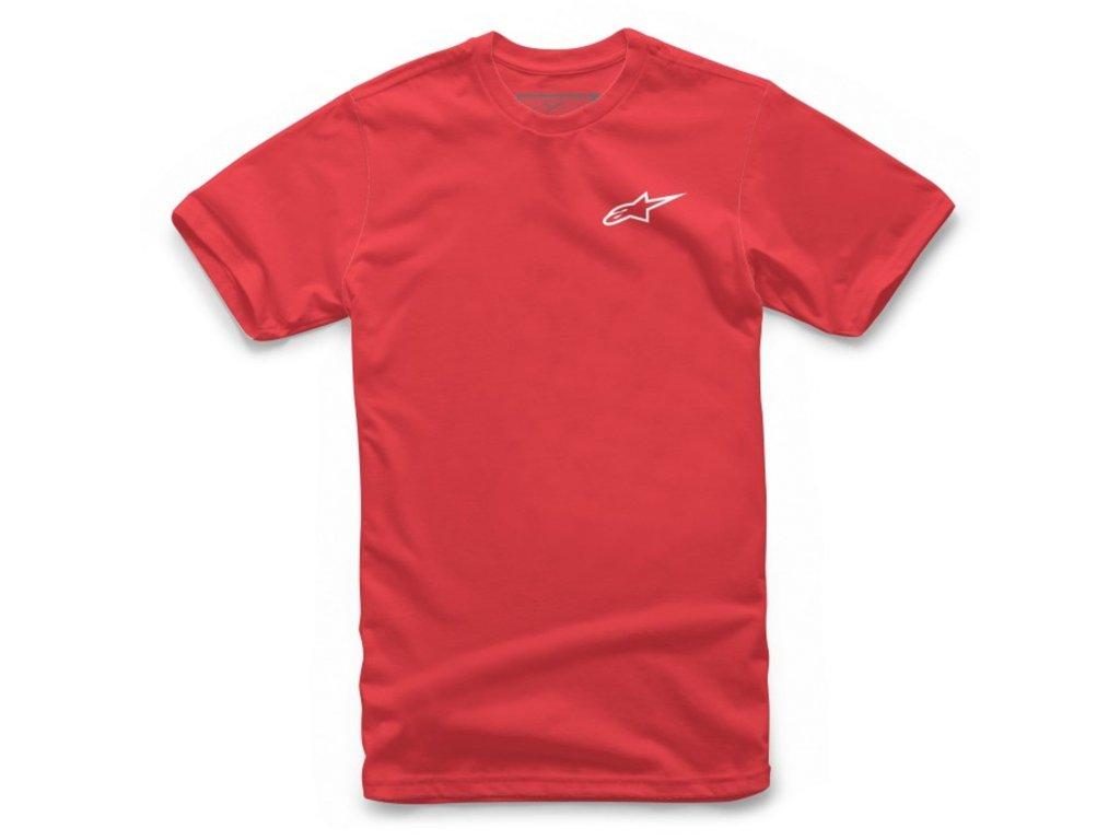 Pánské červené tričko NEU AGELESS Alpinestars krátké 1018-72012 3020