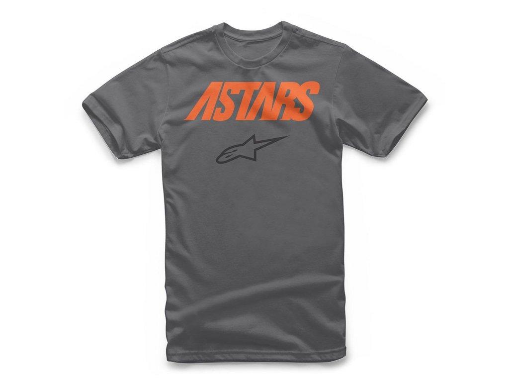 Pánské šedé tričko ANGLE COMBO TEE Alpinestars krátké 1119-72000 18