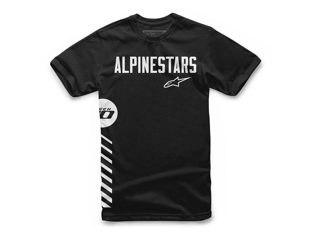 Pánské černé tričko WORDLY TEE Alpinestars krátké 1119-72008 10