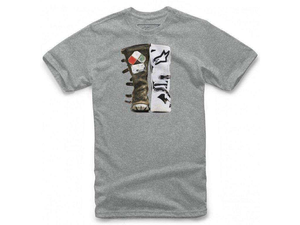 Pánské šedé tričko ROOTS TEE Alpinestars krátké 1119-72028 1026
