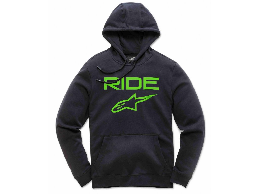 Pánská černo-zelená mikina RIDE 2.0 FLEECE Alpinestars 1119-51000 1060
