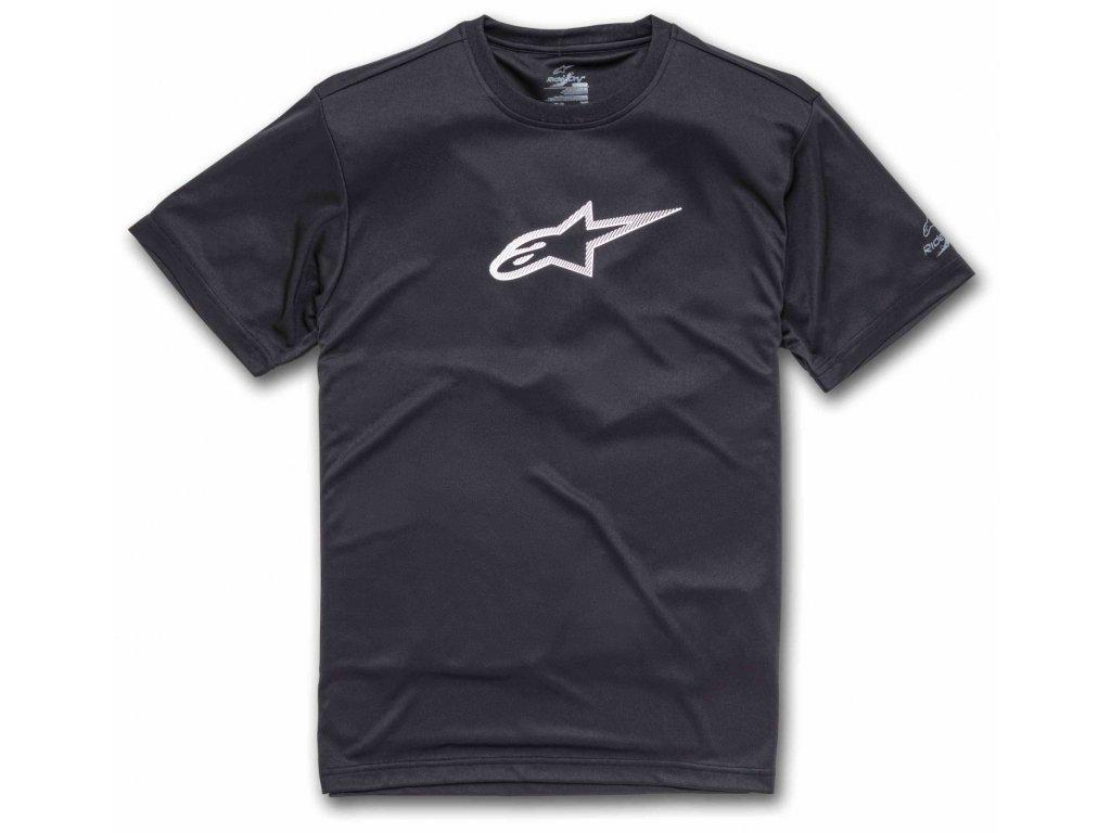 Pánské černé prémiové tričko TECH AGELESS PREMIUM TEE Alpinestars krátké 1139-73000 10