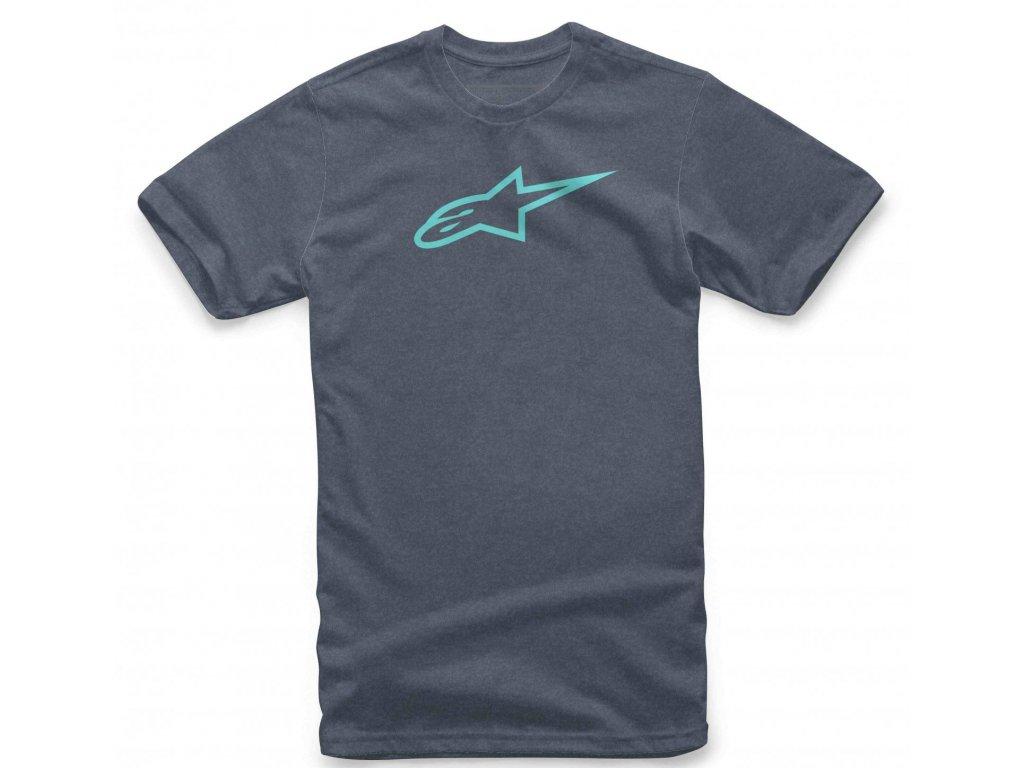 Pánské modro-modré tričko AGELESS II TEE Alpinestars krátké 1037-72022 7776