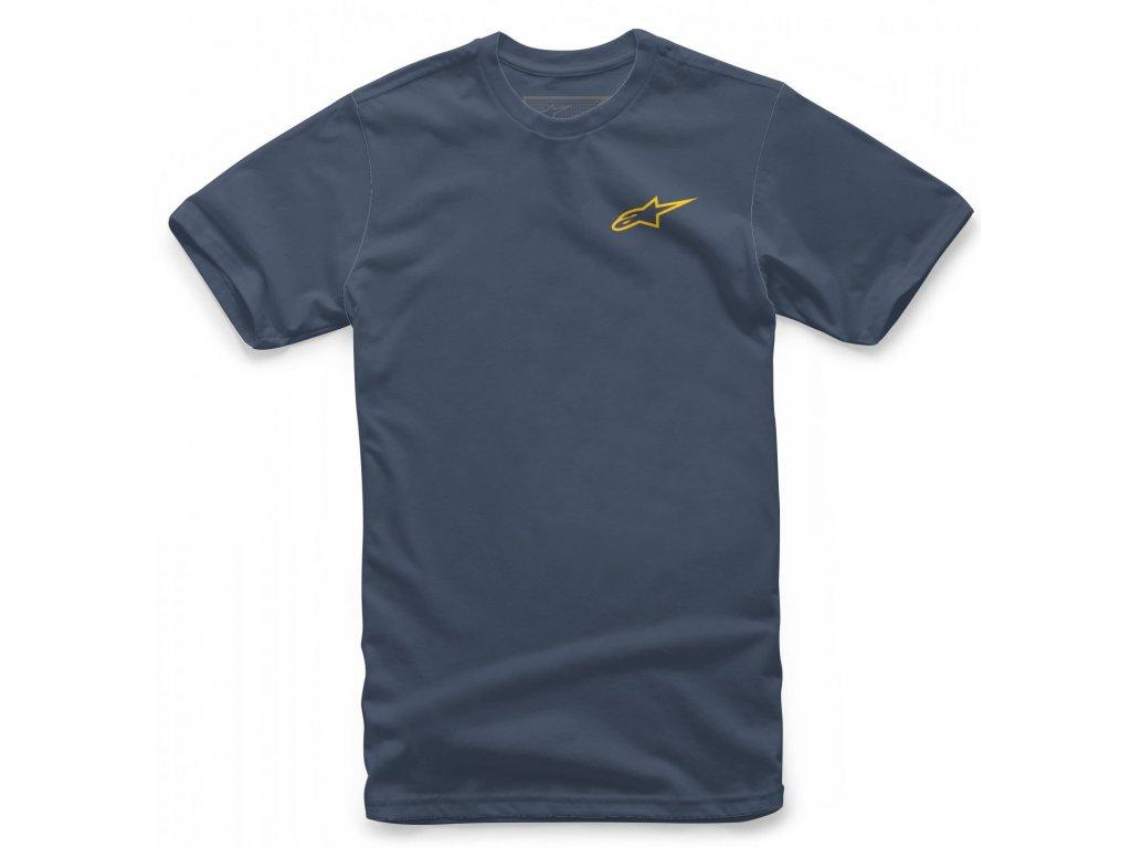 Pánské modro-žluté tričko NEU AGELESS TEE Alpinestars krátké 1018-72012 7059