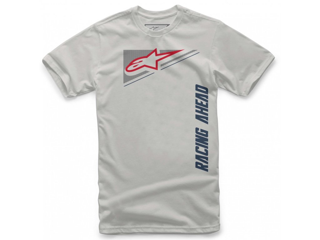 Pánské šedé tričko SUPPLEMENT TEE Alpinestars krátké 1139-72230 19