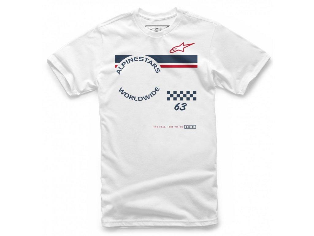Pánské bílé tričko COLLECTION TEE Alpinestars krátké 1139-72250 20