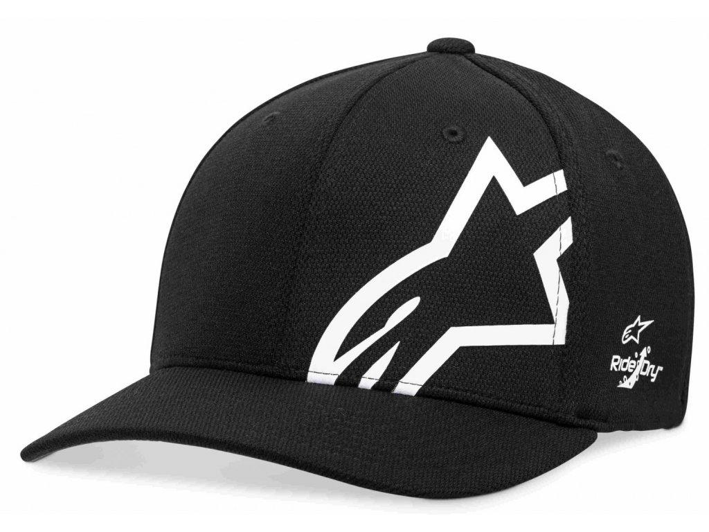 Pánská černo - bílá kšiltovka CORP SHIFT SONIC TECH HAT Alpinestars 1019-81110 1020-M