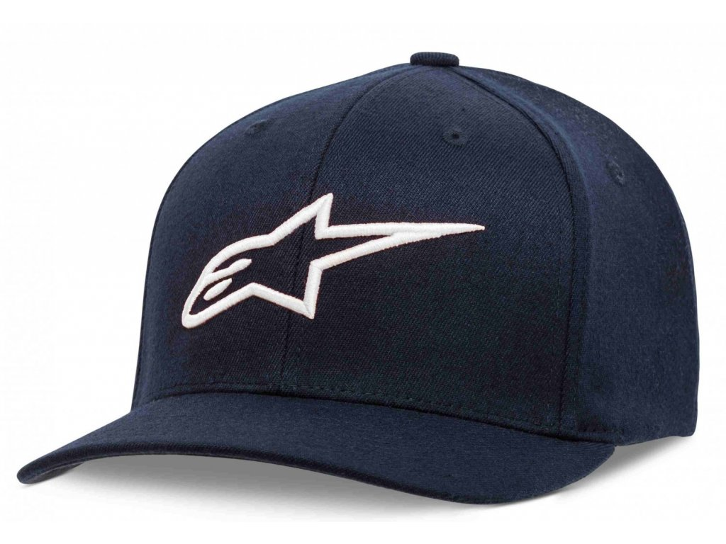 Pánská modro-bílá kšiltovka AGELESS CURVE HAT Alpinestars 1017-81010 7020-M