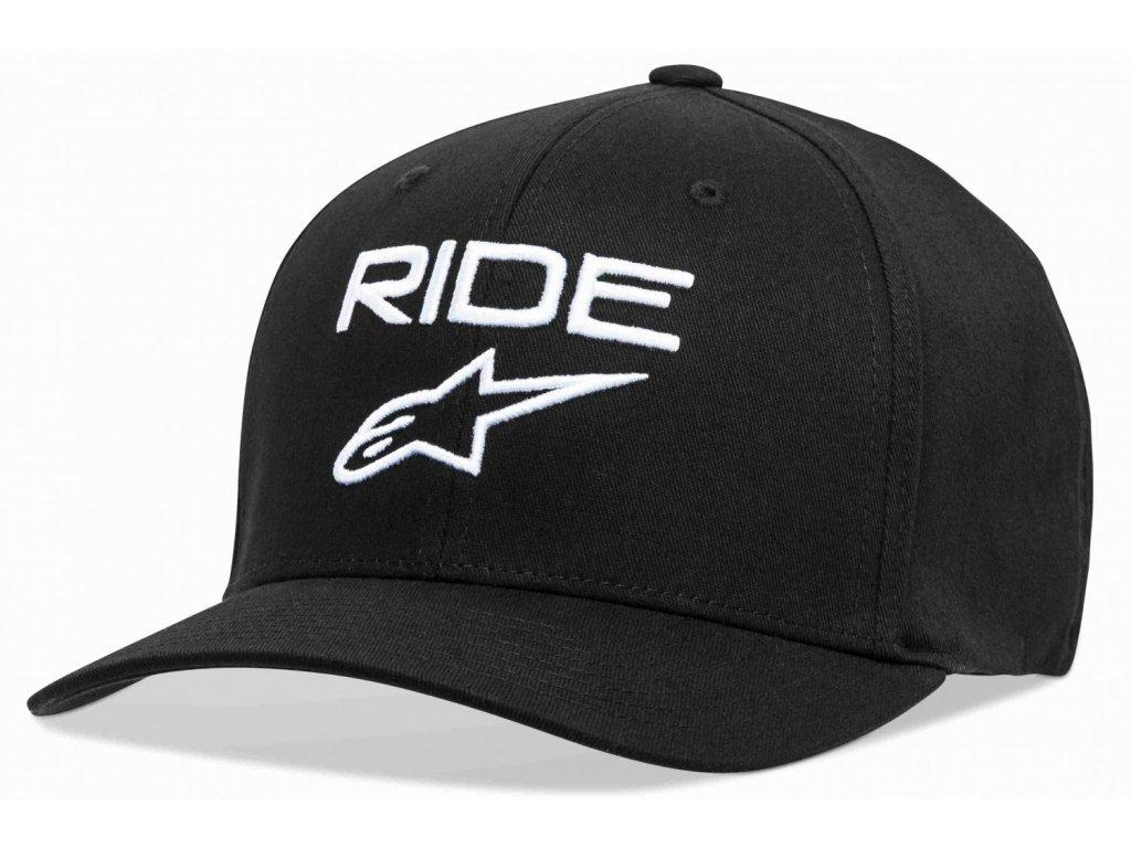 Pánská černo-bílá kšiltovka RIDE 2.0 HAT Alpinestars 1019-81114 1020-M