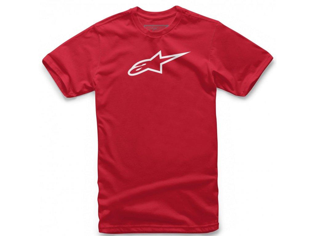 Pánské červeno-bílé tričko AGELESS CLASSIC TEE Alpinestars krátké 1032-72030 3020