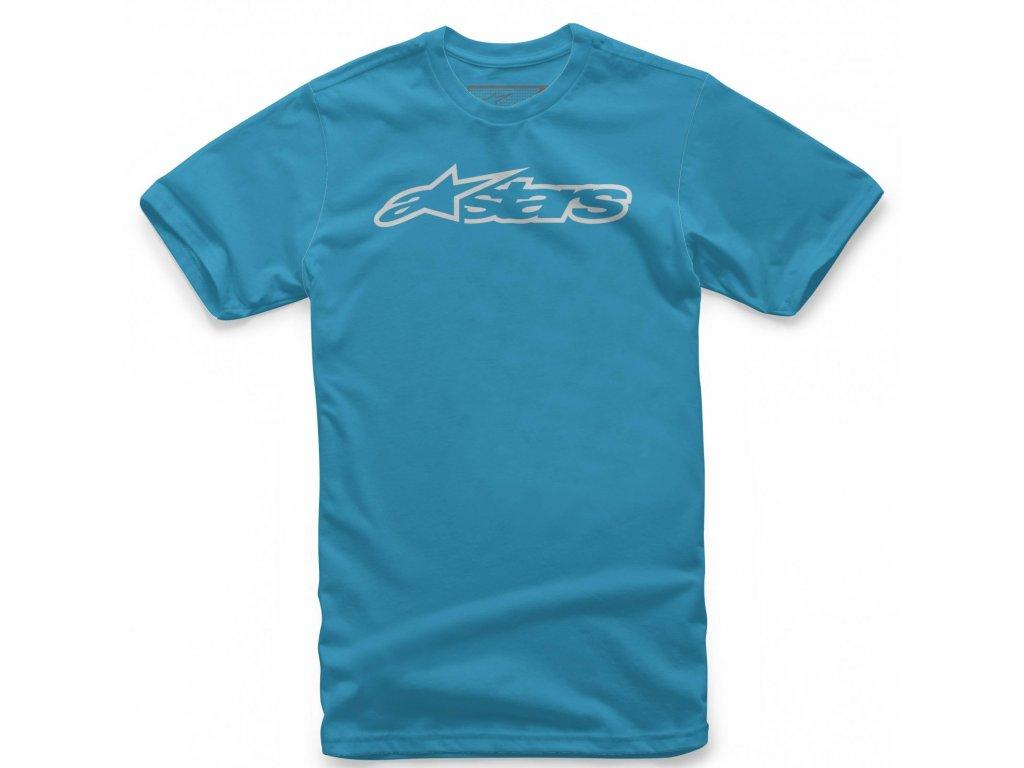 Pánské modro-šedé tričko BLAZE CLASSIC TEE Alpinestars krátké 1032-72032 7611