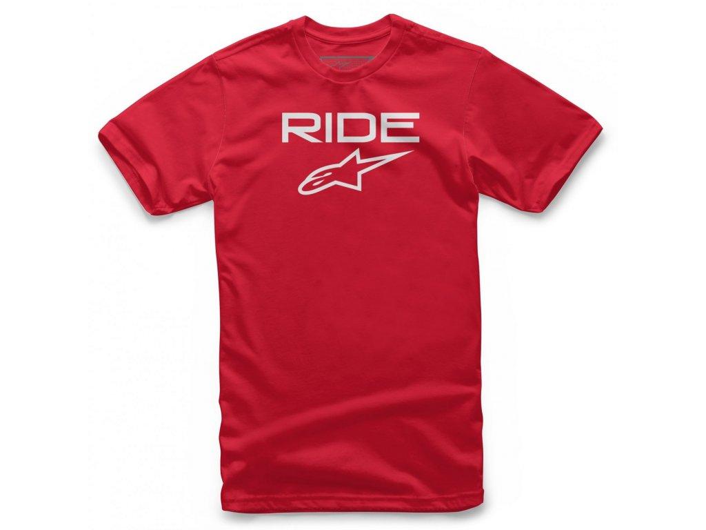Pánské červené tričko RIDE 2.0 TEE Alpinestars krátké 1038-72000 3020