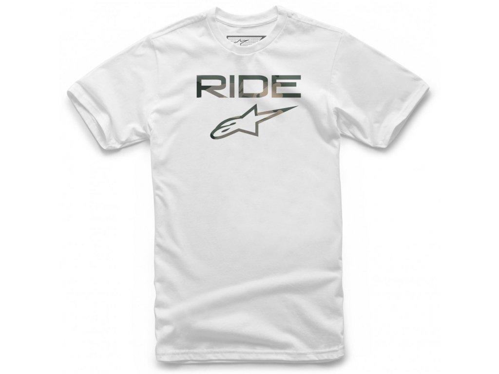 Pánské bílé tričko RIDE 2.0 CAMO Alpinestars krátké 1119-72006 20